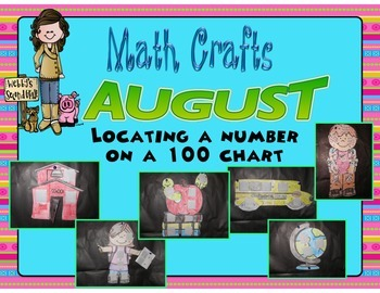 August Math Crafts Locating a Number on a 100 Chart