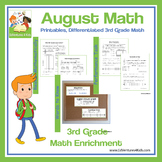 August Math: Enrichment Math for 3rd Grade