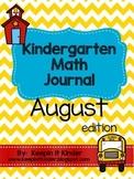 August & September Math Journal