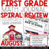 August Math Journal (1st Grade)