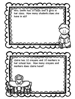 August Math Journal Questions for 2nd Grade!