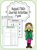 August Math Journal for First Grade