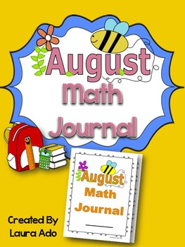 August Math Journal to fit CCSS Numbers and Algebric Think