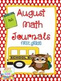 August Math Journals {First Grade}