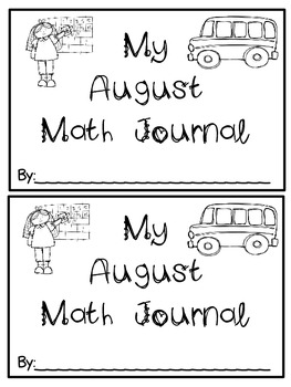 August Math Journals {First Grade}