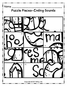 August Math & Literacy Picture Puzzles