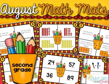 August Math Mats {second grade}