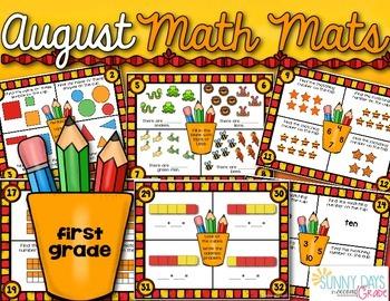 August Math Mats {first grade}