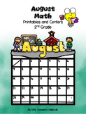 August Math Printables and Centers Grade 2