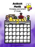 August Math Printables and Centers Grade 3