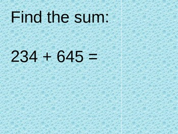 August Math Review Powerpoint