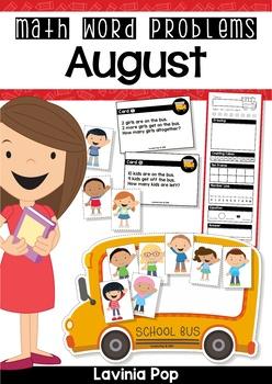 August Math Word Problems (up to 10)