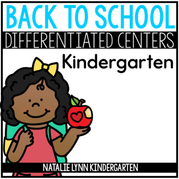 August Math and Literacy Centers for Kindergarten