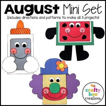 August Mini Set {Watermelon Man, Clown, & Glue Bottle}