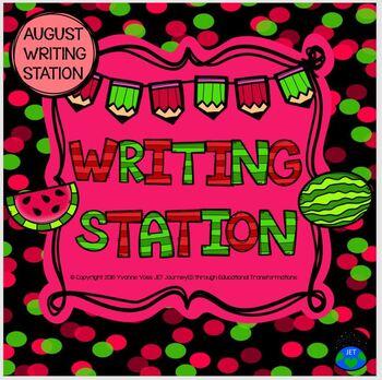 August Mini Writing Station