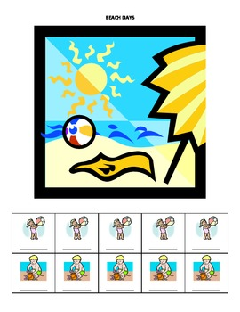 August Monthly Name Game for Articulation and Language:  Beach Days