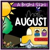 August Morning Bright {Kindergarten Math Morning Work}
