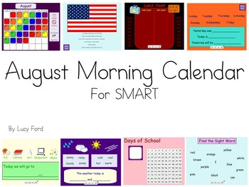 August Morning Calendar SMART