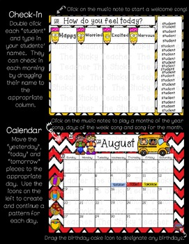 August Calendar Math and Morning Meeting for Pre-K and Kindergarten