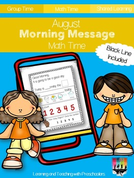 August Morning Message Math Time