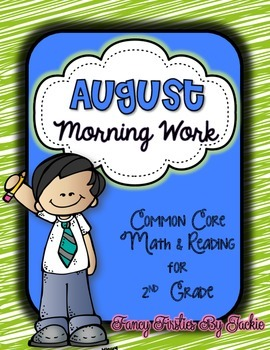 August Morning Work -- 2nd Grade
