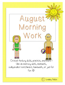 August Morning Work- Critical Thinking