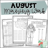 August Morning Work | For Upper Elementary | ELA and Math Review