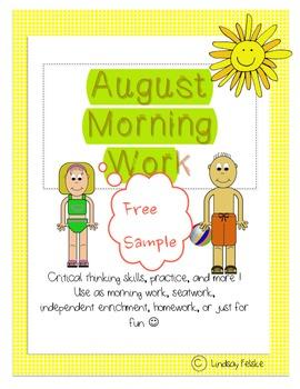 August Morning Work- Free Sample