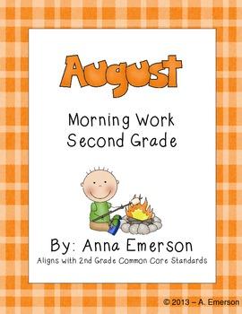 August Morning Work Second Grade