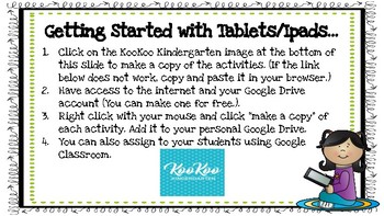 Google Classroom 1st grade August Morning Work