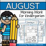 Kindergarten Morning Work: August