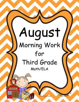 August Morning Work for Third Grade
