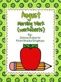 August Morning Work (worksheets)