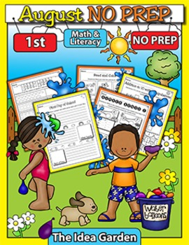 August NO PREP Back To School - Math & Literacy (First)