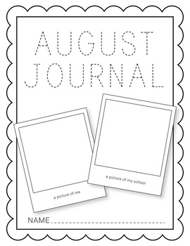 August NO PREP Journal Pages (Early Childhood)