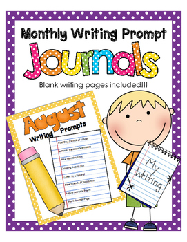 August NO PREP Journal Prompts Book