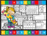 August NO PREP Kindergarten Language Arts Pack - Common Co