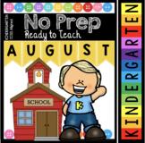 Kindergarten Back to School Worksheets - Alphabet and Math Activities - August