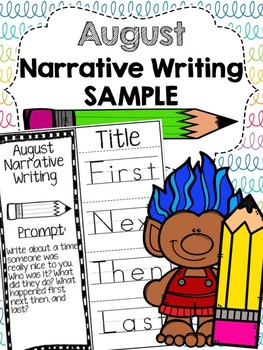 August Narrative Writing FREEBIE
