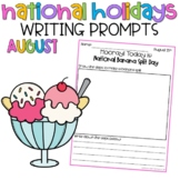 August National Holidays Writing Prompts