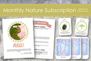 August Nature Subscription- Tanglewood Hollow Nature Subscription