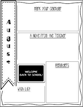 August Newsletter Freebie