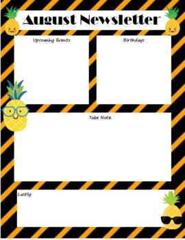 August Newsletter (Pineapple)
