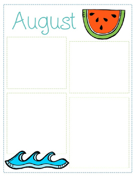 August Newsletter Template Teaching Resources Teachers Pay Teachers - August newsletter template