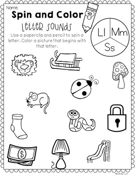 August No Prep Math and Literacy Worksheets for Kindergarten