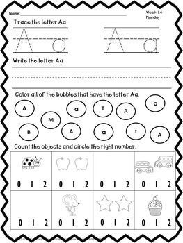 August No Prep Worksheet