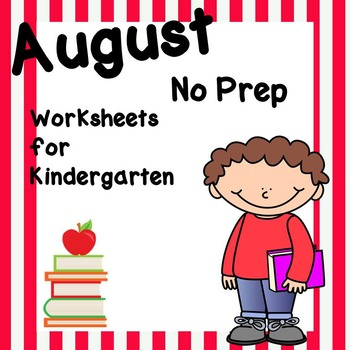 August No Prep Worksheet