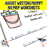 Writing Prompt Worksheets with Pictures for Summer