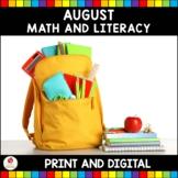 August No Prep and Digital Activities (Kindergarten)