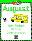 August - Back To School - Non Fiction QR Code Comprehension